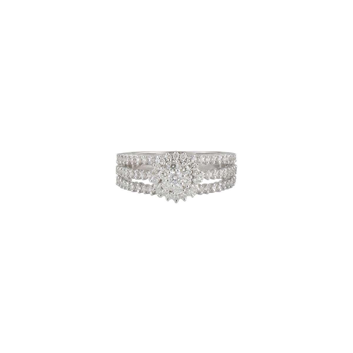 18k White Gold Diamond Ring 1.27ct